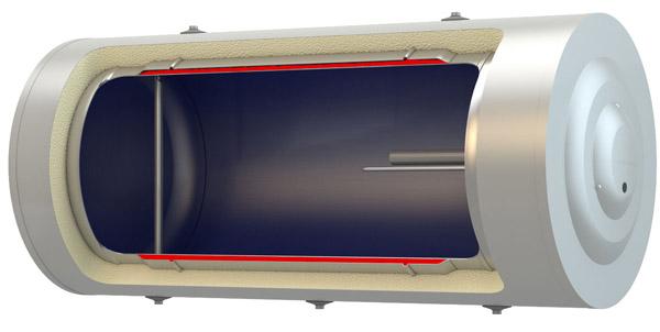 Ηλιακός θερμοσίφωνας με εναλλάκτη τύπου μανδύα