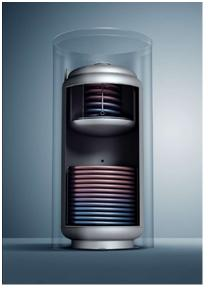 Δοχείο αδρανείας με εσωτερικές σερμπαντίνες (εναλλάκτες θερμότητας)