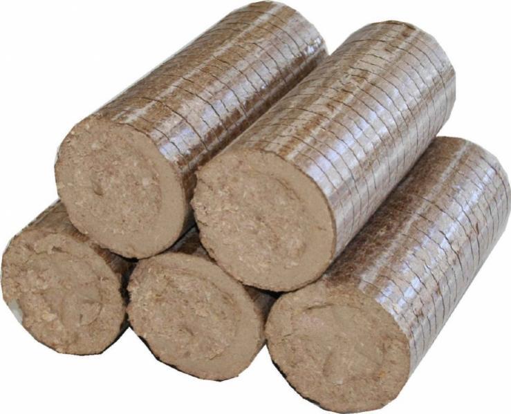 Μπριγκέτα (μπρικέτα) ξύλου, καύσιμη βιομάζα.