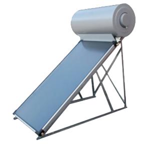 α) Τους ηλιακούς θερμοσίφωνες φυσικής ροής, στους οποίους το δοχείο θέρμανσης ΖΝΧ (μπόιλερ) είναι συναρμολογημένο επάνω στη βάση του συλλέκτη και βρίσκεται ψηλότερα από αυτόν, με αποτέλεσμα η ροή νερού στο κλειστό κύκλωμα να γίνεται με φυσικό τρόπο (το θερμό ανεβαίνει μόνο του ψηλά και ωθεί το νερό που έχει κρυώσει στο μπόιλερ να επιστρέψει στον συλλέκτη για αναθέρμανση.