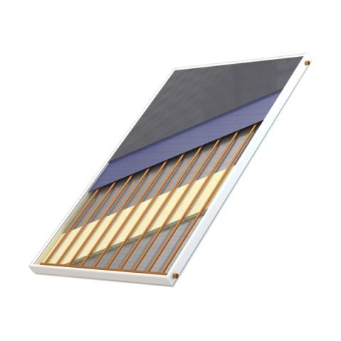 Ηλιακός συλλέκτης για σύνδεση σε ηλιακά συστήματα θέρμανσης ζεστού νερού χρήσης και εγκαταστάστης ηλιοθερμίας.